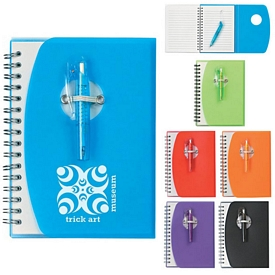 Promotional Spiral Notebook With Shorty Pen