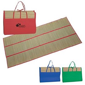 Promotional Straw Beach Mat Tote Bag