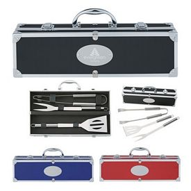 Custom Bbq Set In Aluminum Case
