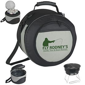 Promotional Portable Bbq Grill And Kooler