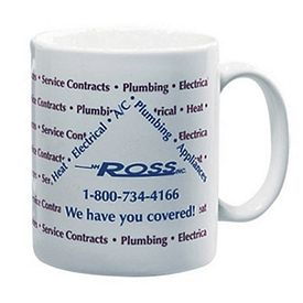 Customized 11 Oz White Ceramic Mug