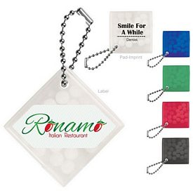 Promotional Square Key Chain With Mints