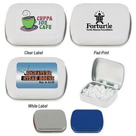 Customized Peppermints In Rectangle Tin