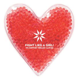 Promotional Heart Shape Gel Beads Hot-Cold Pack