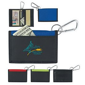 Customized Velcro Wallet With Carabiner
