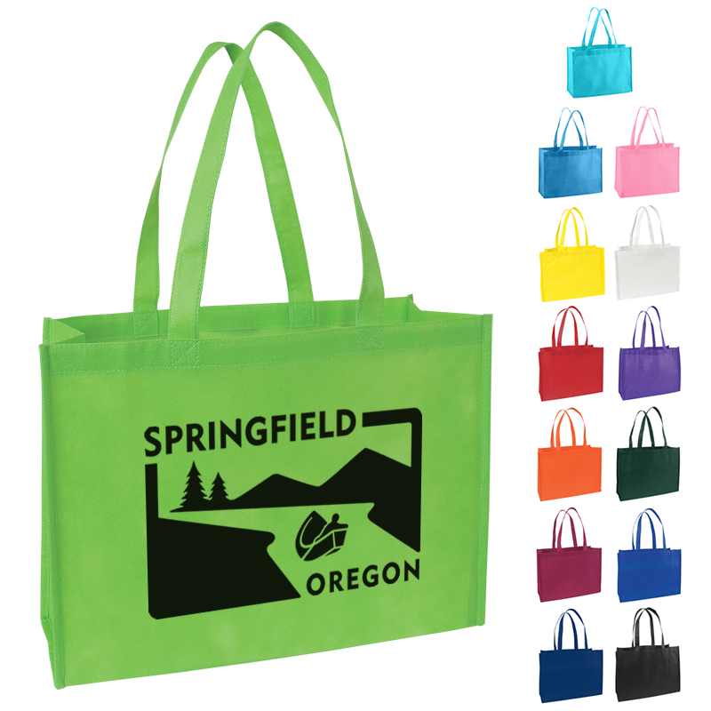 Promotional Standard Nonwoven Tote Bag with Gusset | Customized ...