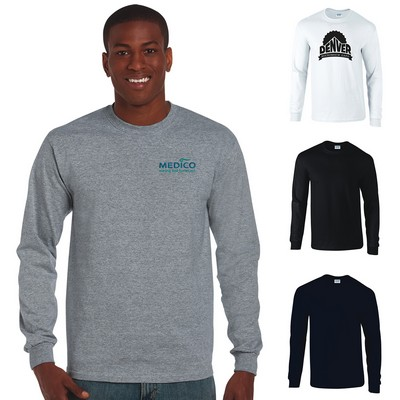 Custom Gildan 6 Oz Cotton Adult Long Sleeve T-Shirt