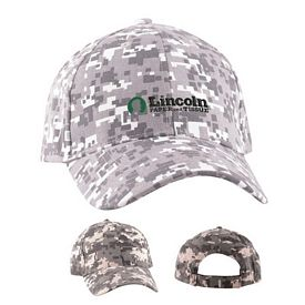 Custom Digital Camo Structured Baseball Cap