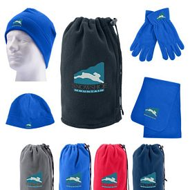 Promotional Fleece Winter Set In Pouch