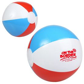 Customized 10 Red White And Blue Beach Ball