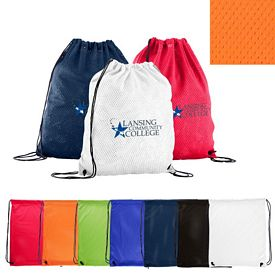 Promotional Sports Jersey Mesh Drawstring Backpack