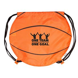 Custom Gametime Basketball Drawstring Backpack