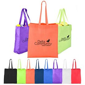 Custom Heat Sealed Nonwoven Value Tote With Gusset