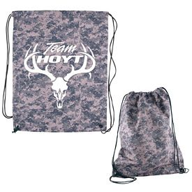Customized Digital Camo Rpet Drawstring Cinch Up Backpack
