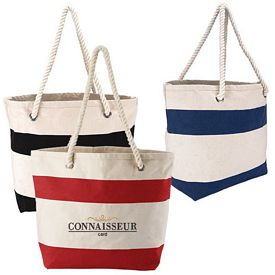Promotional Cotton Resort Tote With Rope Handle