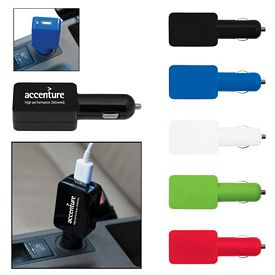 Promotional Flat Usb Car Adapter
