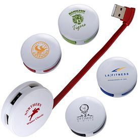 Promotional Round 4 Port Usb Hub