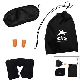 Promotional Drawstring Pouch Compact Travel Set