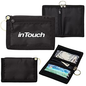 Promotional Id Wallet With Zipper And Key Ring