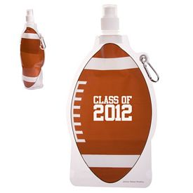 Promotional Hydropouch 16 Oz Football Collapsible Water Bottle