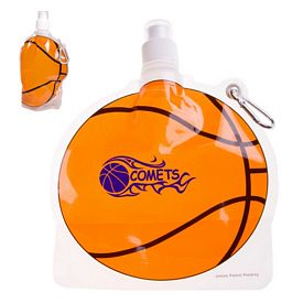 Customized Hydropouch 24 Oz Basketball Collapsible Water Bottle
