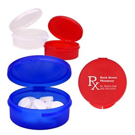 Custom Single Compartment Plastic Pill Case