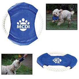 Promotional Pet Rope Tug Flyer Toy