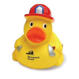 Promotional Fireman Rubber Duck
