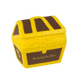 Promotional Treasure Chest Advertising Stress Reliever - CLOSEOUT ITEM