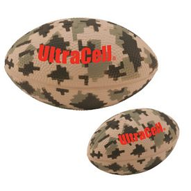 Custom 5 Large Digital Camouflage Football Stress Reliever