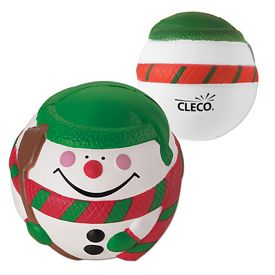 Customized Snowman Advertising Stress Reliever
