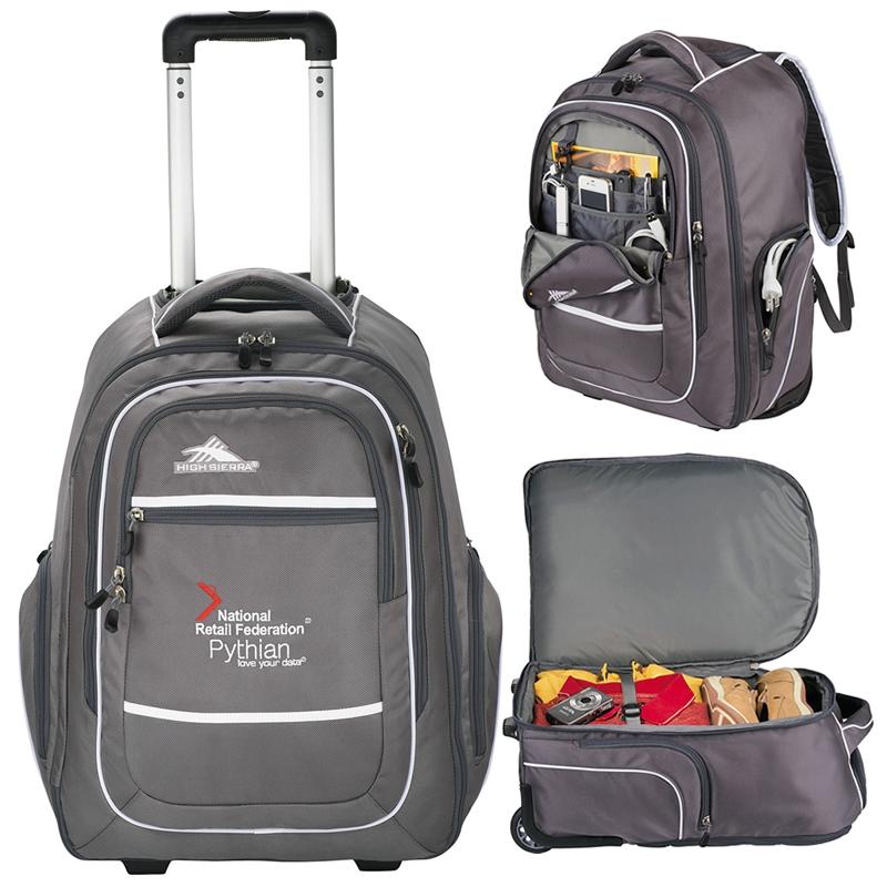 Promotioinal High Sierra Rev Wheeled Computer Backpack