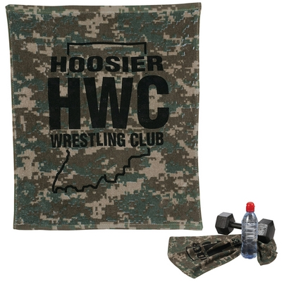 Custom 18X15 Camouflage Rally Towel