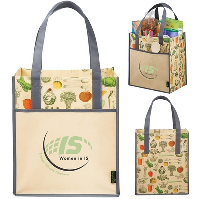 Promotional Matte Laminated Non-Woven Vintage Big Grocery Tote Bag