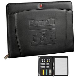 Promotional Wenger Zippered Padfolio Pen Bundle Set
