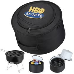 Promotional Game Day Portable Grill And Cooler Bag