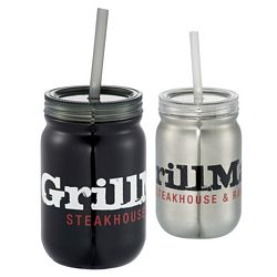 Promotional 24 Oz Stainless Mason Jar