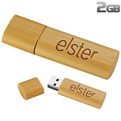 Custom Bamboo Usb Flash Drive 2Gb