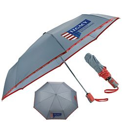 Promotional New Balance 42 Auto Open-Close Folding Umbrella