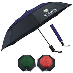 Customized 42 Color Pop Vented Windproof Umbrella