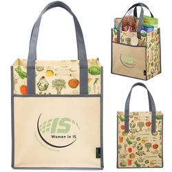 Custom Matte Laminated Non-Woven Vintage Big Grocery Tote Bag