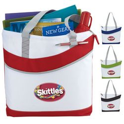 Promotional Upswing Zippered Convention Tote Bag