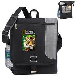 Promotional Gridlock Vertical Compu-Messenger Bag