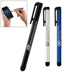 Promotional Aluminum Stylus with Clip - CLOSEOUT ITEM