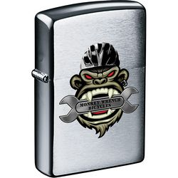 Promotional Zippo Windproof Lighter Brush Chrome
