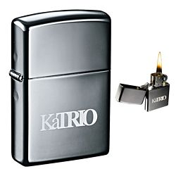 Custom Zippo Windproof Lighter Black Ice