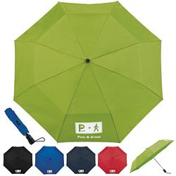 Customized Totes 44 3-Section Auto Open Umbrella