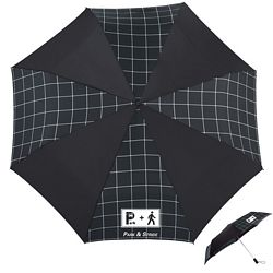 Promotional Totes 44 3-Section Auto Open Grid Style Umbrella
