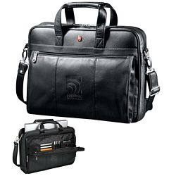 Custom Wenger Executive Leather Business Brief