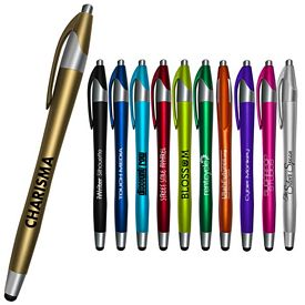 Promotional Liquimark Iwriter Silhouette Stylus Retractable Pen